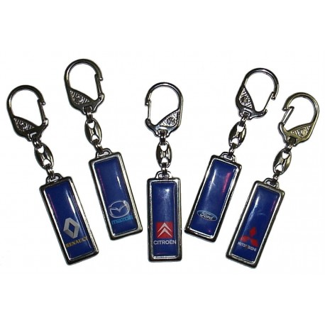 Prívesky na kľúče s logom auta - obdĺžnik